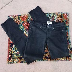 Paige Peg Skinny Coated Shimmer Jeans